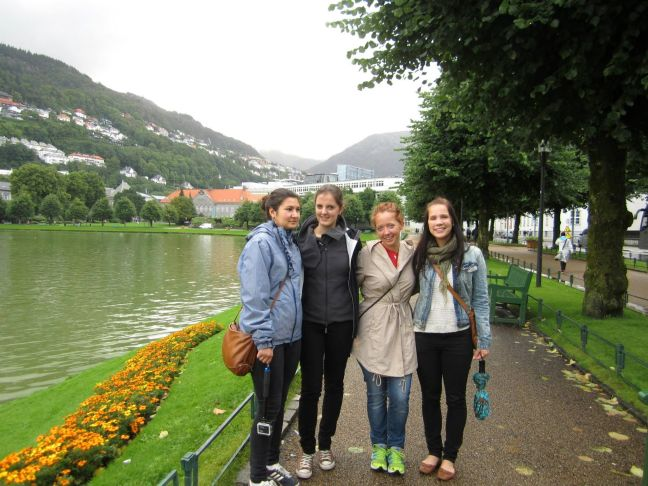 Jana, Julia, Mirjam and Lotta in Bergen
