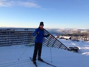 Dennis på ski